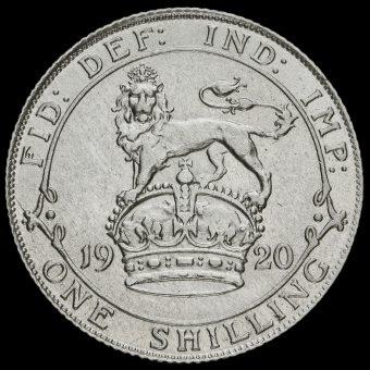 1920 George V Silver Shilling Reverse