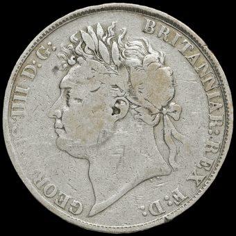 1822 George IV Milled Silver Tertio Crown Obverse