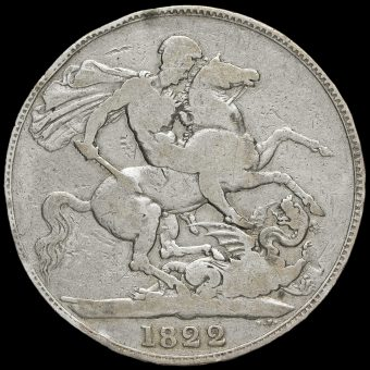1822 George IV Milled Silver Tertio Crown Reverse