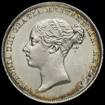 1846 Queen Victoria Young Head Silver Sixpence Obverse