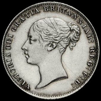 1866 Queen Victoria Young Head Silver Sixpence Obverse