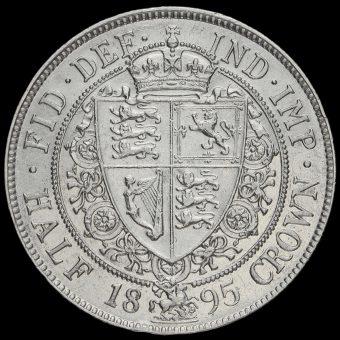 1895 Queen Victoria VeiledHead Silver Half Crown Reverse