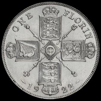 1922 George V Silver Florin Reverse