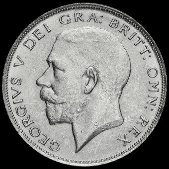 1922 George V Silver Half Crown Obverse