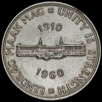 South Africa 1960 Silver 5 Shillings Coin Obverse