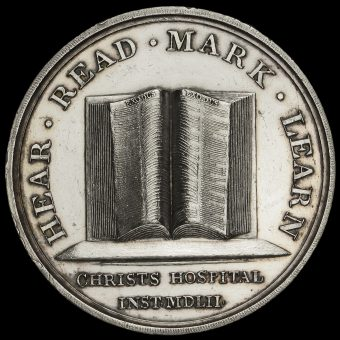 Christ's Hospital School Silver Markers Prize Medal Reverse